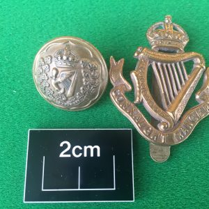 Connaught Ranger button and badge.